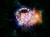 Communication nebulae — Stock Photo