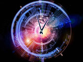 Abstract clock background — 图库照片