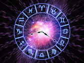 Zodiac clock — Foto Stock