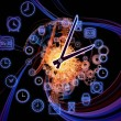 Stock Photo: Dynamic of time