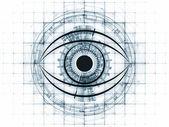 技术的视线 — 图库照片