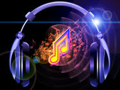 Of sound, music and headphones — Stock Photo