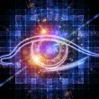 Eye of artificial intelligence - 图库照片