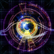 Eye of artificial intelligence — Stock Photo #10221582