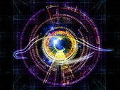 Eye of artificial intelligence — Stock Photo