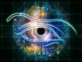 Eye of mechanical progress — Stock Photo
