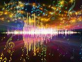 Ljudvågen landskap — Stockfoto