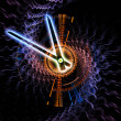 Abstract clock forms — Stock Photo