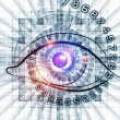 Eye of numbers - Stock Photo