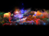 Colorful fractal clouds — Stock Photo