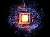 脑处理器 — 图库照片