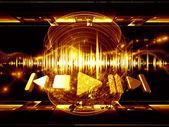 Music processing — Stock Photo