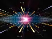 エネルギーの光線 — ストック写真