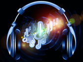 Headphones music — Stock Photo