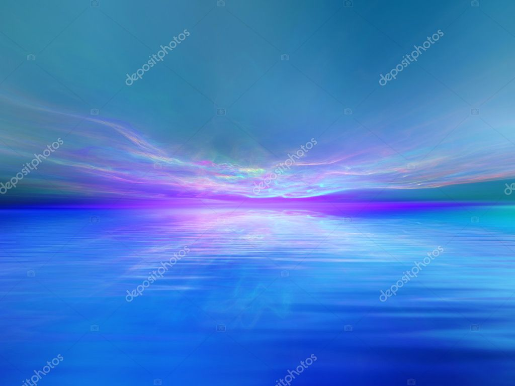 Colorful waterscape background suitable as a backdrop for projects on art, music, religion and spirituality  Stock Photo #10491735