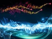 Music visualization — Stock Photo