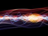 抽象波浪分析仪 — 图库照片
