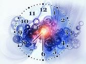 Rozsunięty zegar — Zdjęcie stockowe