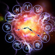 Zodiac clock — Stock Photo #10720049