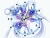 Fond abstrait horloge — Photo