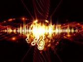 Propagation of sound — Stock Photo