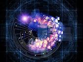 Computing Earth — Stock Photo