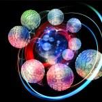 Swirl of Number Spheres — Stock Photo #8044059