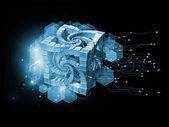 Technology Cube — Stock Photo