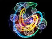 Redemoinho de esferas números — Foto Stock