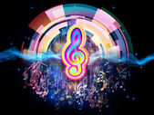 Klänge der musik — Stockfoto