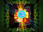 Numbers Within — Stock Photo