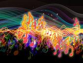 Colori di energia musica — Foto Stock