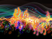 Cores de energia musical — Foto Stock