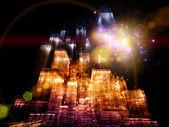 Lichter der großstadt — Stockfoto