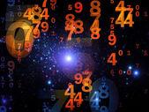Zahlen und Lichter — Stockfoto