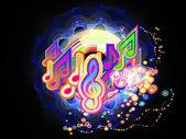 Luz da música — Fotografia Stock