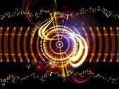 Digital Technology Swirls — Stock Photo