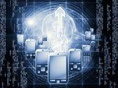 Digital Phone Technology — Zdjęcie stockowe