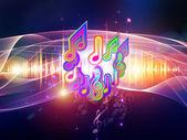 музыкальная волна — Стоковое фото