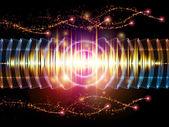 Kleurrijke geluid — Stockfoto