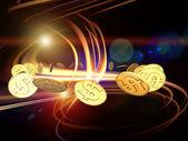 Dollar Swirl — Stock Photo