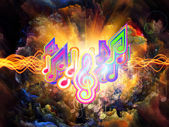 Colors of Musical Energy — Stock Photo
