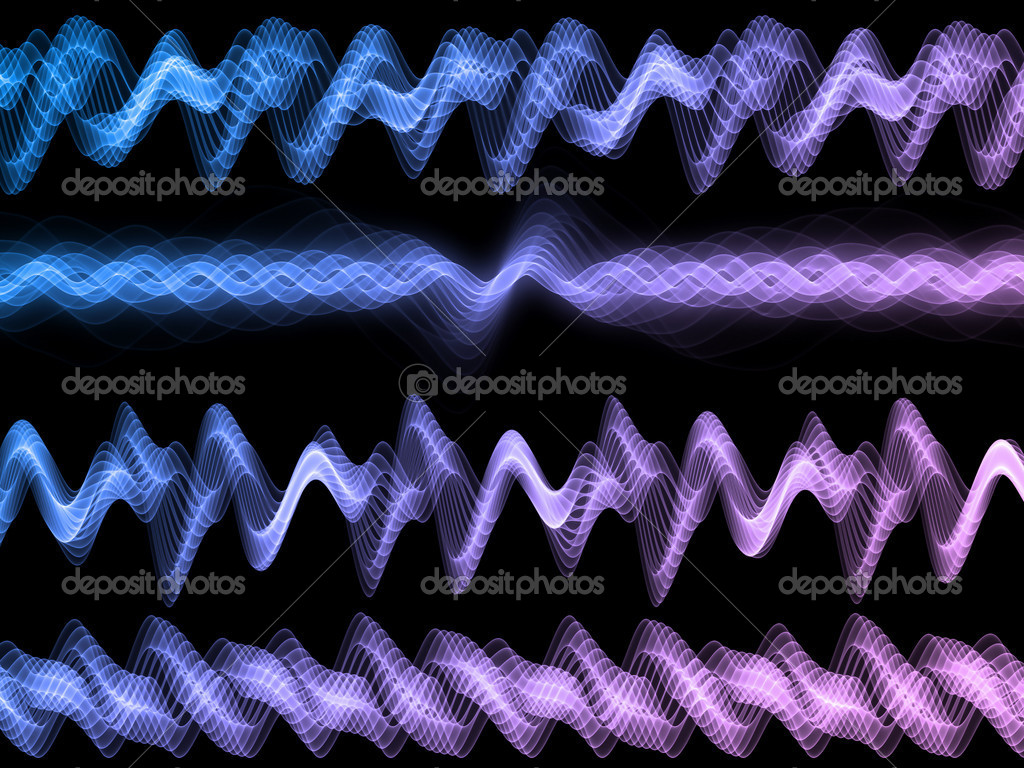 Sound analyzer sine waves background suitable for audio, music and science related projects — Stock Photo #9117017