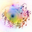 Stock Photo: Splash of Music