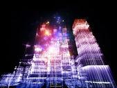 şehir ışıkları — Stok fotoğraf