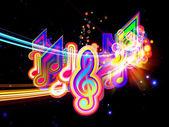 音楽の光 — ストック写真