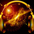 Music over headphones — Stockfoto