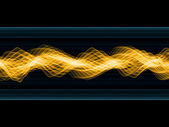 Golden Sign Waves — Stock Photo