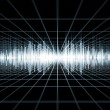 Sound Wave Landscape — Stock Photo
