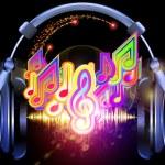 Постер, плакат: Music in headphones
